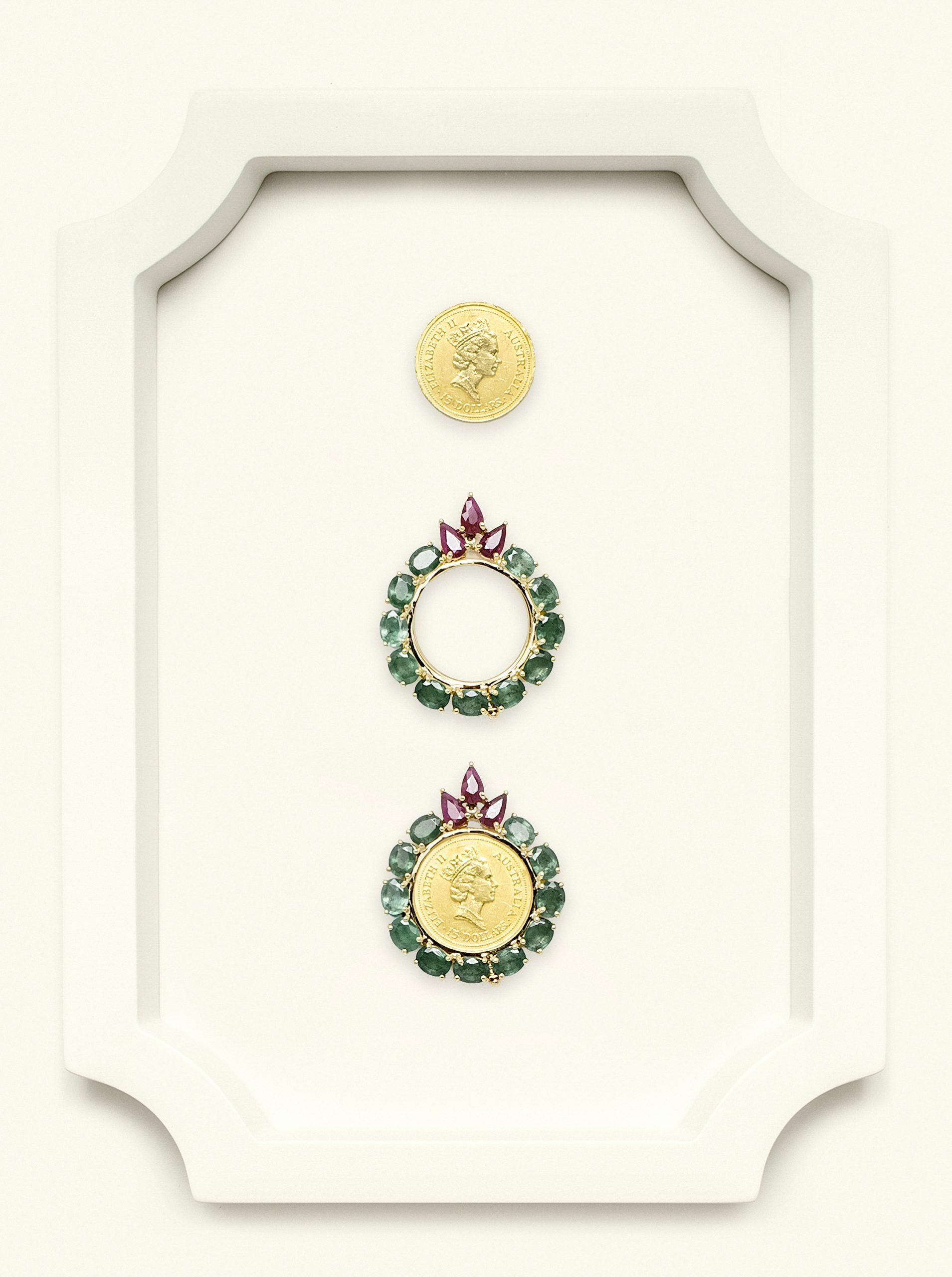 Naira Pendant Australian Emerald-Ruby