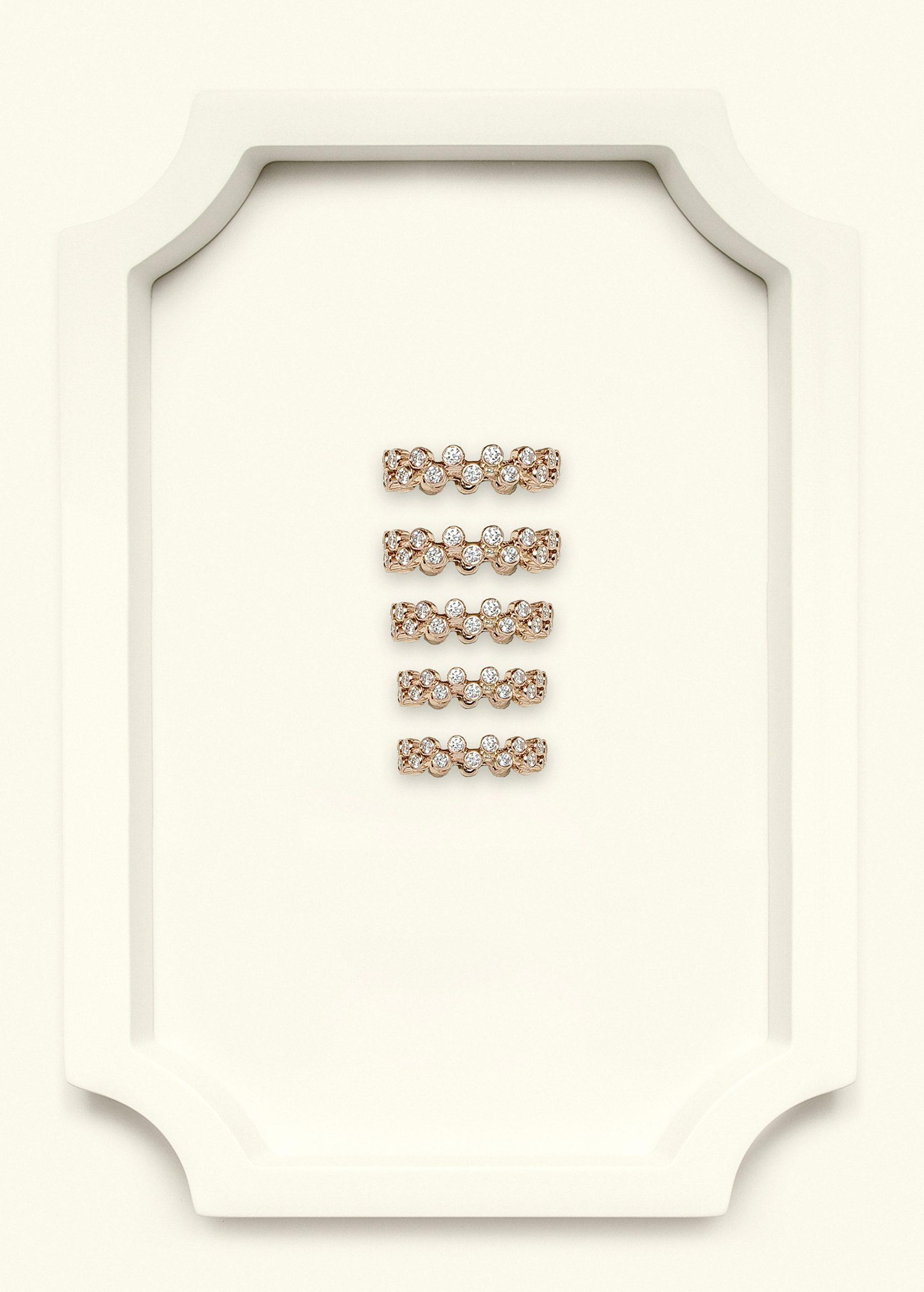 Full Diamond Rose Gold Stackable Ring