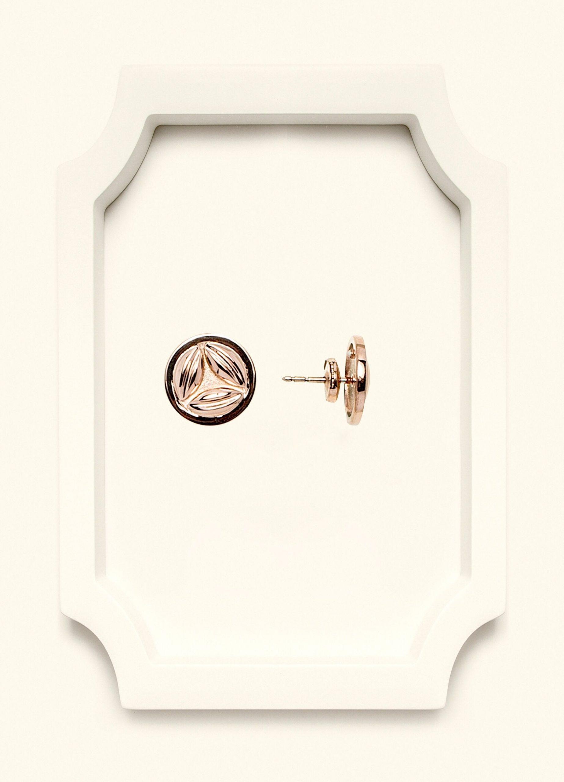 Rose Gold Stud Earrings