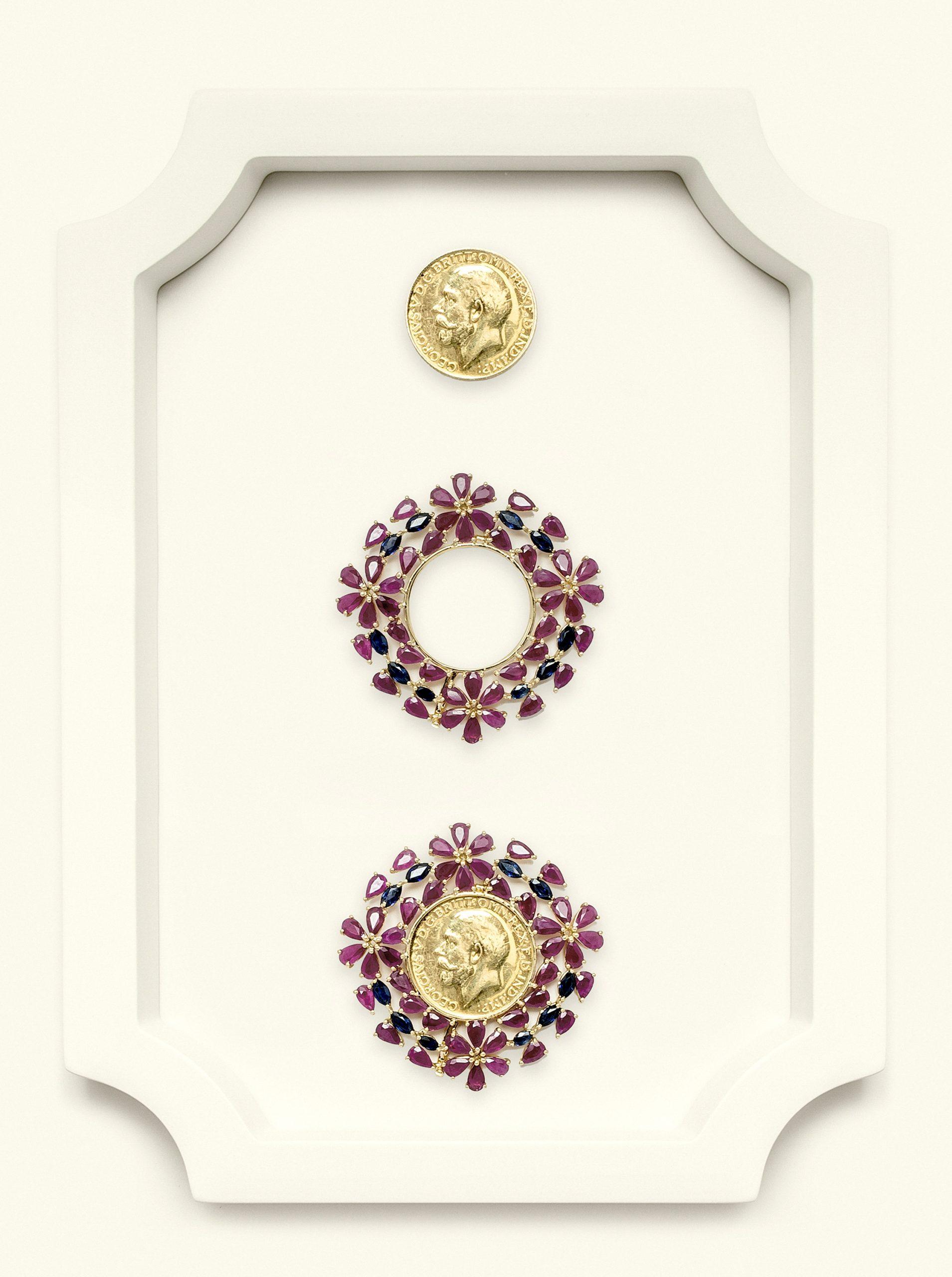 Naira Pendant British Ruby-Sapphire