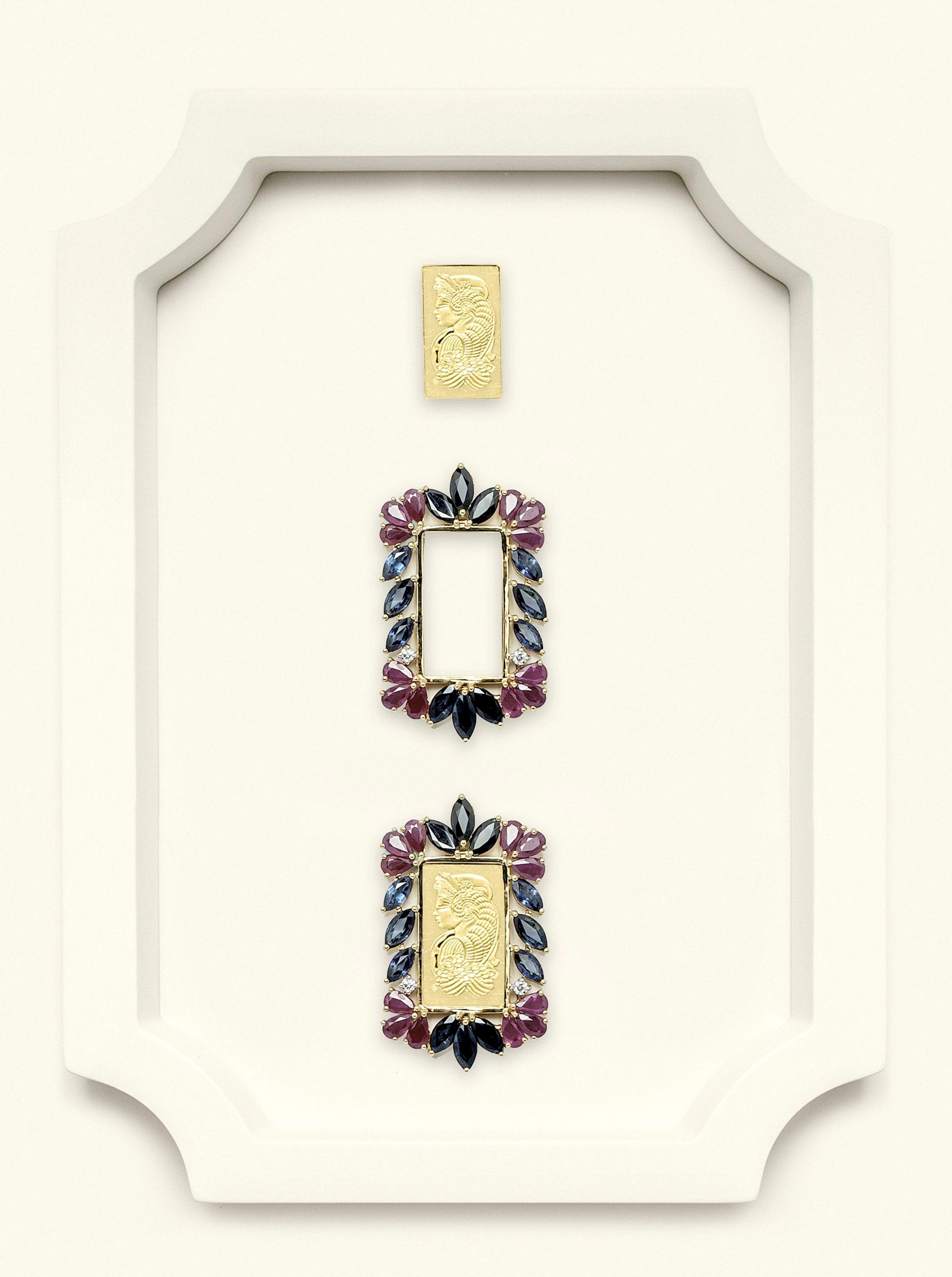 Naira Pendant Suisse Sapphire-Ruby-Diamonds