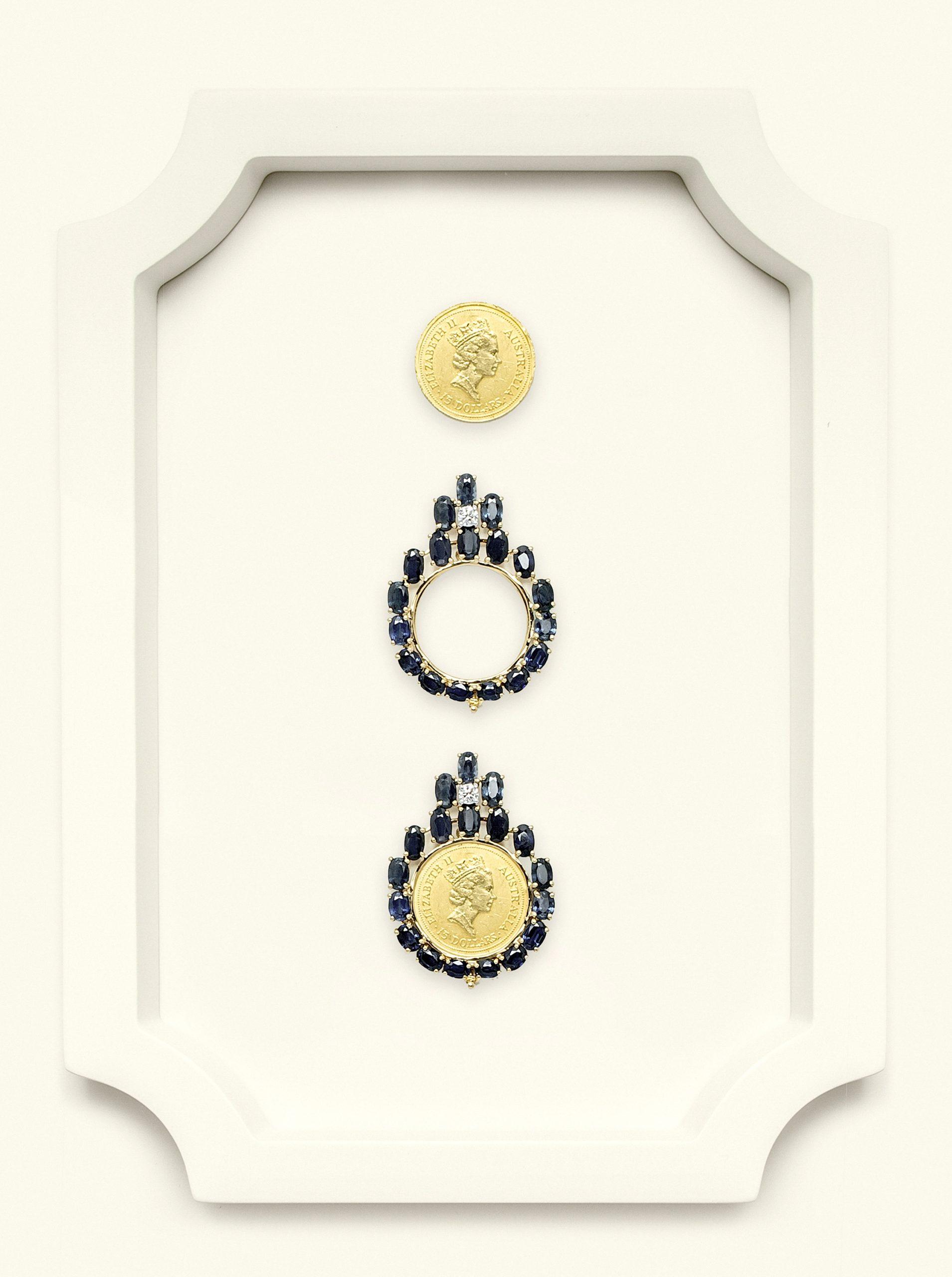Naira Pendant Australian Sapphire-Diamond