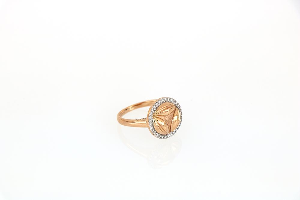 Al Awsaj Rose Gold with Diamonds Ring