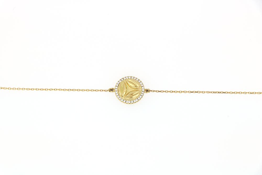 Al Awsaj Yellow Gold with Diampond Bracelet