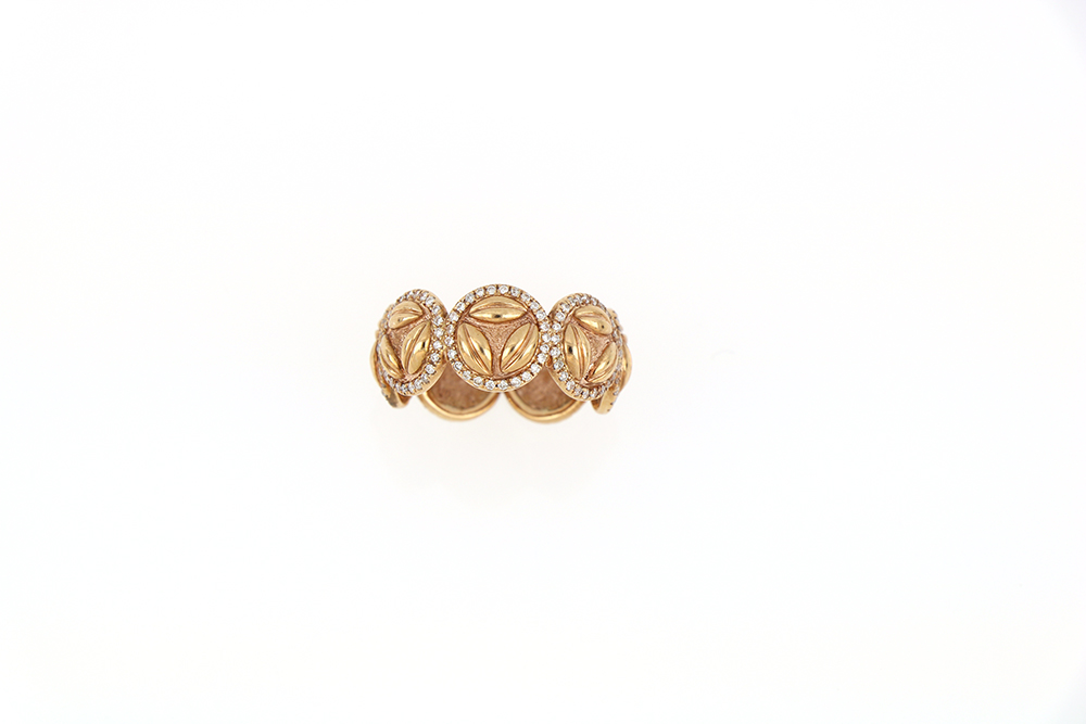 Rose Gold Eternity Ring With Diamonds