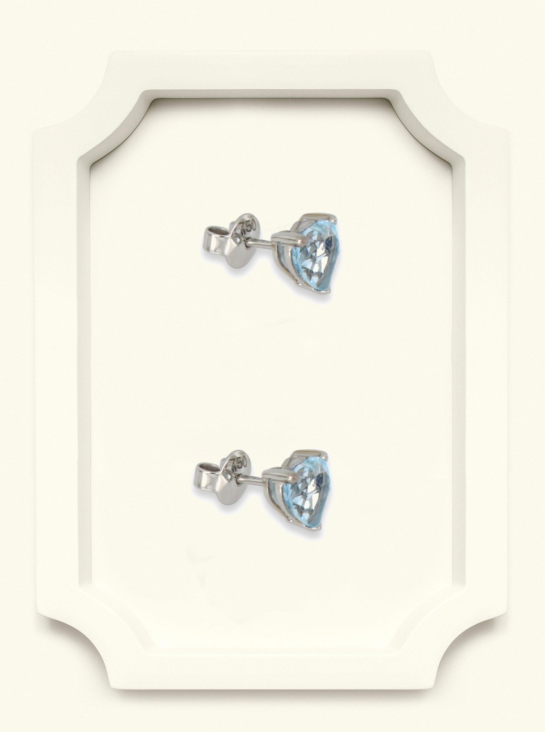Blue topaz stud earrings